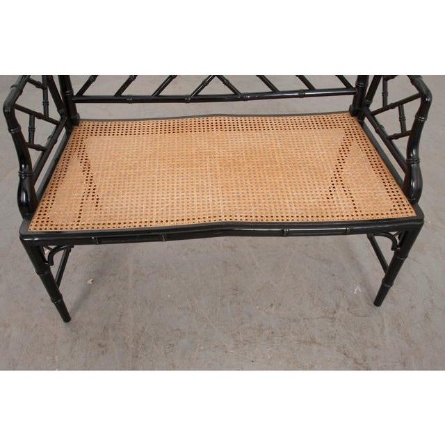English Vintage Chinese Chippendale Four-Piece Conservatory Suite For Sale In Baton Rouge - Image 6 of 13