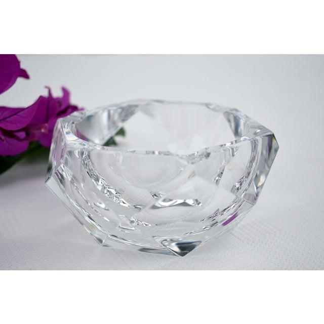Val Saint-Lambert Vintage Val Saint-Lambert Crystal Faceted Ashtray For Sale - Image 4 of 5
