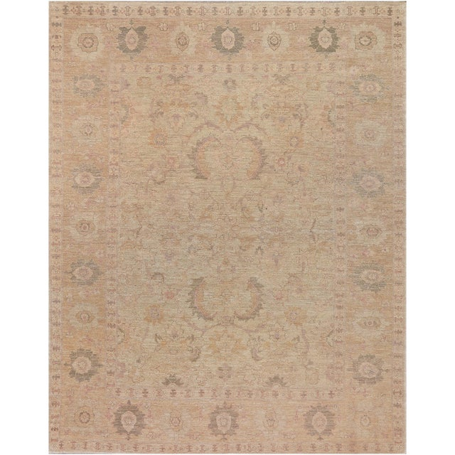 Mansour Superb Quality Handwoven Agra Rug - 8' X 10' For Sale