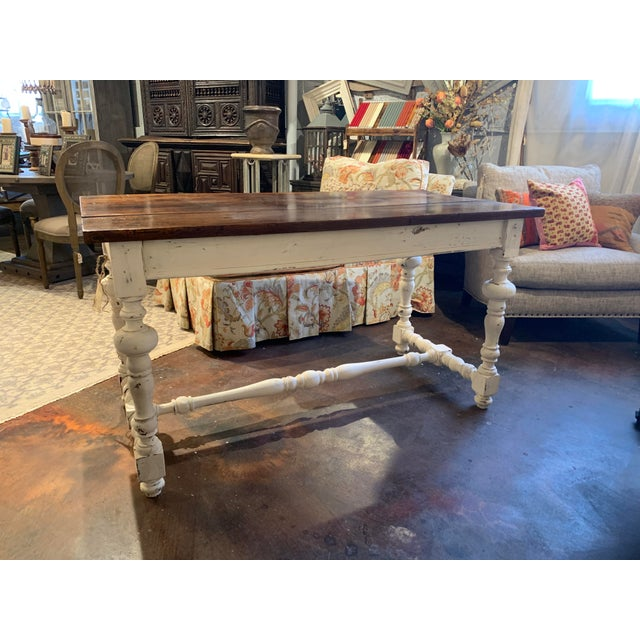 Cottage 1910s French Farm Table For Sale - Image 3 of 13