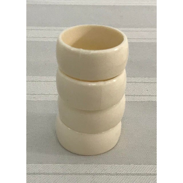 Cream Colored Vintage Napkin Rings - Set of 4 For Sale In Dallas - Image 6 of 7