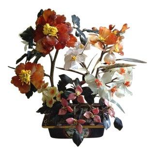 20th Century Shell Japanese Bonsai Flower Sculpture