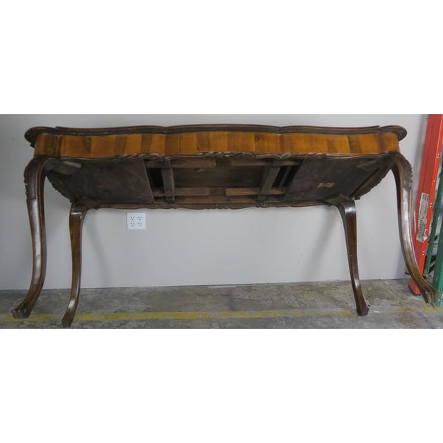 French Inlaid Walnut Veneered Writing Table, Circa 1900 For Sale - Image 10 of 11
