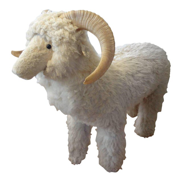 Vintage Sheep Sculpture or Bench Inspired by Lalanne For Sale