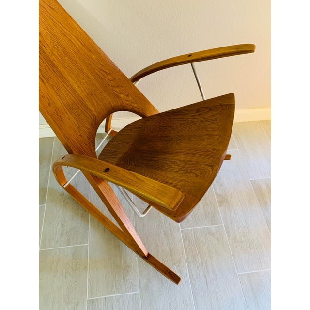 Mid Century Modern Leon Meyer Sculptural Rocking Chair For Sale - Image 11 of 13