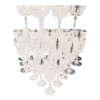 Cristal D' Arques Crystal Glass Stemware Set of 26 For Sale