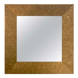 Mid-Century Modern Square Cork Mirror For Sale