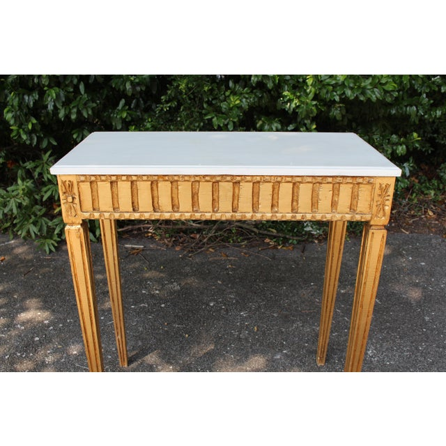 Early 21st Century French Country Wooden Top Occasional Table For Sale - Image 5 of 7