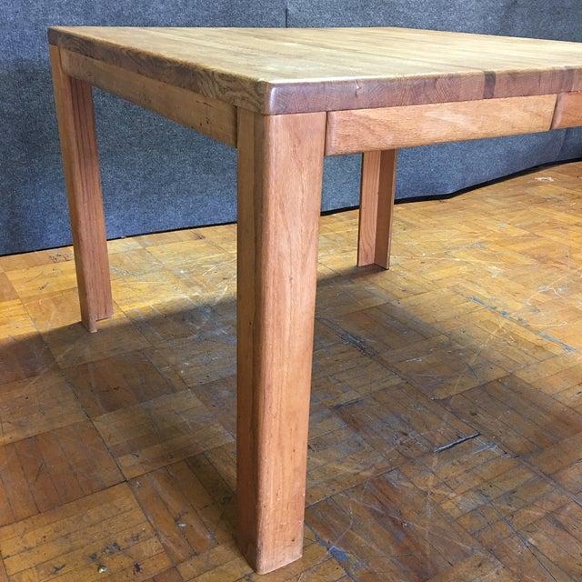 Oak Butcher Block Dining Table - Image 4 of 7