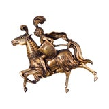 Image of 1970's Finesse Original Fiberglass Knight Riding Horse Wall Sculpture For Sale