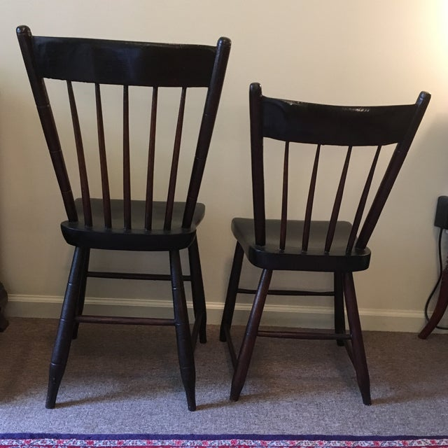 Craftsman Made Side Chairs C. 1840s For Sale - Image 4 of 4