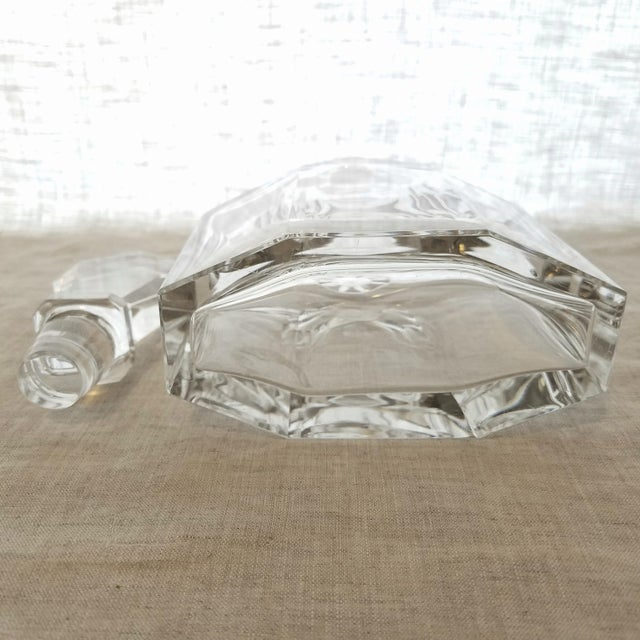 Vintage Geometric Crystal Decanter & Stopper - Image 7 of 8