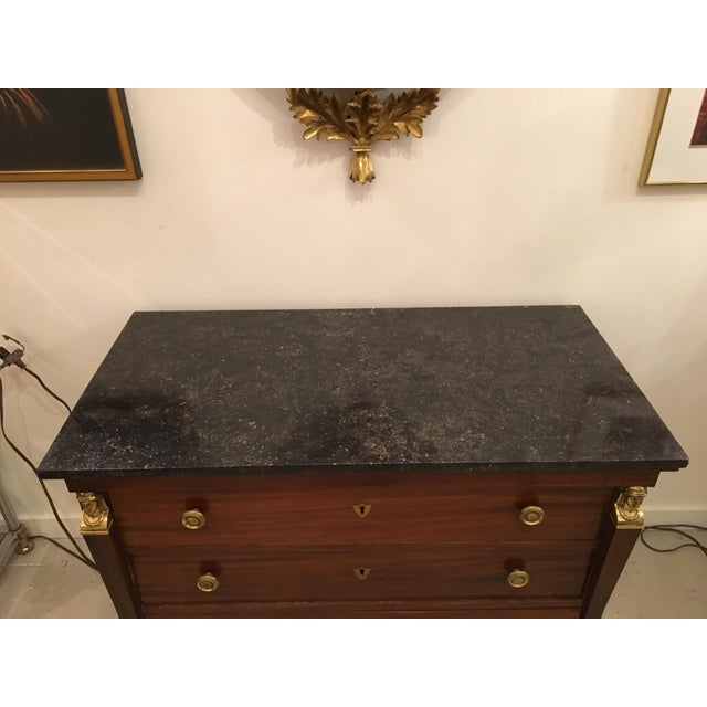 French French Empire Mahogany Commode For Sale - Image 3 of 11