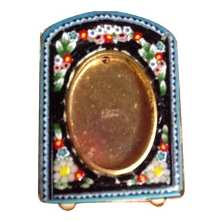 Antique Victorian Micro Mosaic Photo Frame For Sale