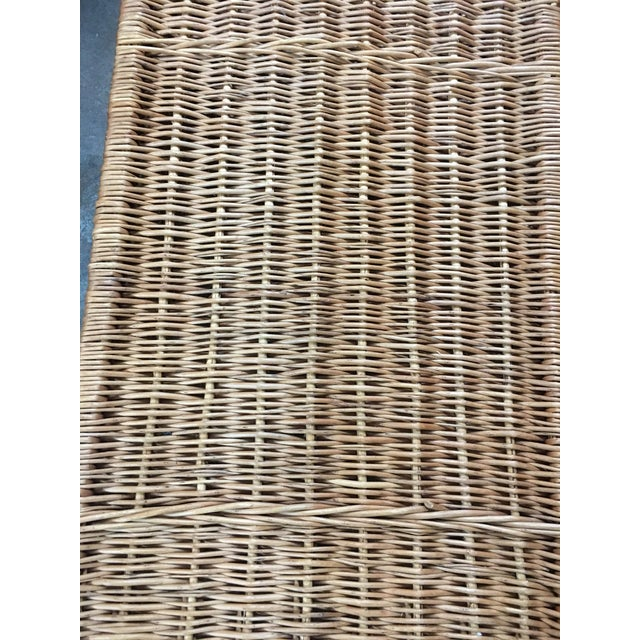 Rattan French Wicker Trunk For Sale - Image 7 of 7