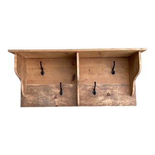 Rustic Handmade Coat Shelf For Sale