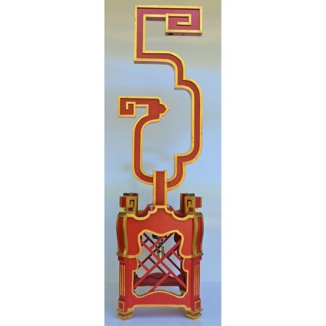 Red Custom Wooden Chinoiserie Pagoda Lantern, Designed by George Weinle For Sale - Image 8 of 13