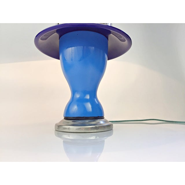 2010s Table Lamp in Multiple Colors of Blue For Sale - Image 5 of 12