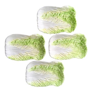 Mid Century Modern Cabbage Plates - Set of 4
