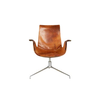 Distressed Bird Chair by Preben Fabricius & Jørgen Kastholm for Alfred Kill For Sale