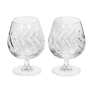 1960s French Brandy Snifters, Pair For Sale