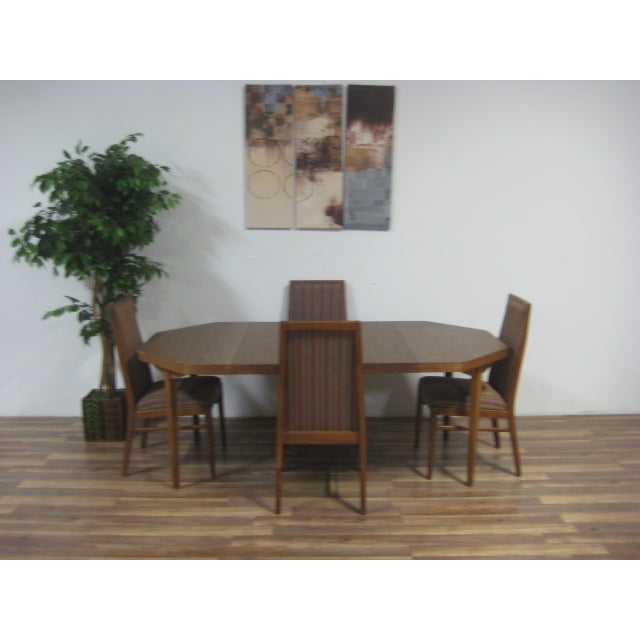 Vintage Dual Leaf Teak Dining Set - Image 4 of 11