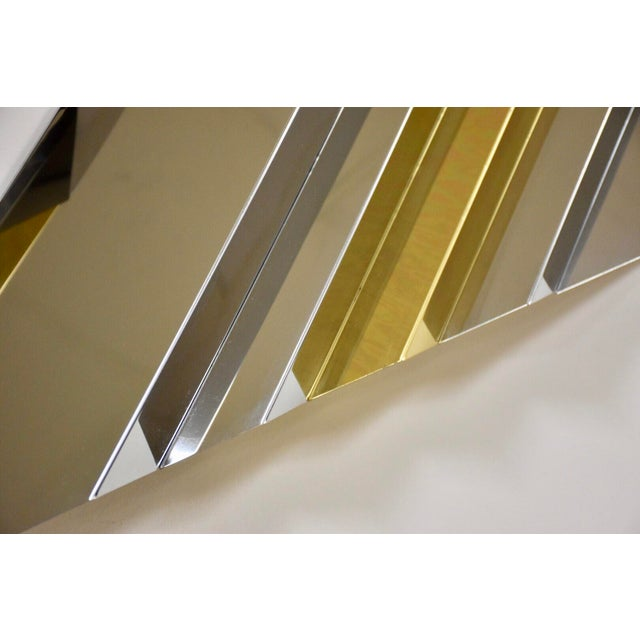 Modern Chrome and Brass Wall Art For Sale In Boston - Image 6 of 9