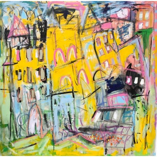 """Sarah Trundle, """"Urban Hustle"""" - Contemporary Abstract Painting For Sale"""