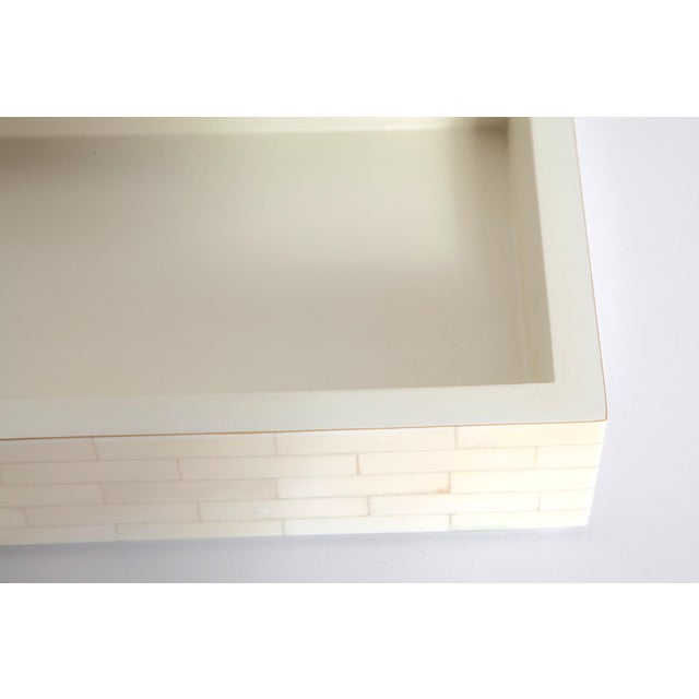 Large Tessellated Bone Box, Circa 1980 For Sale - Image 9 of 13