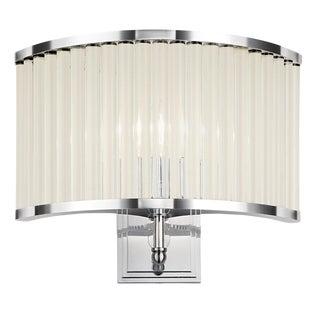 Polished Chrome Curved Wall Light For Sale