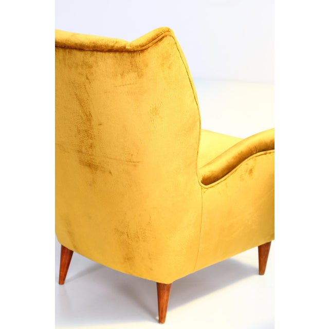 Mid-Century Modern Gio Ponti Pair of Armchairs 1940 for Isa Bergamo For Sale - Image 3 of 6