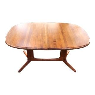 1980s Danish Modern Glostrup Mobelfabrik Teak Dining Table For Sale