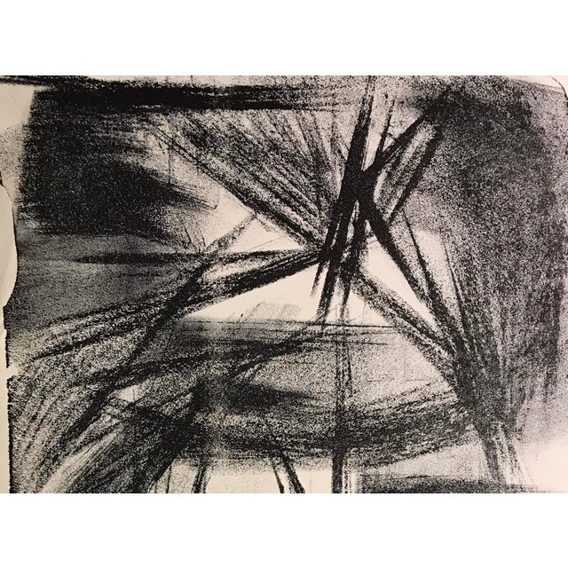 "Jerry Opper Abstract Fireworks 1940-1950's Stone Lithograph on Paper 12.5"" x 19"", Unframed Came from a portfolio of his..."