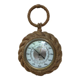 Small Rope Shaped Pocket Watch Barometer Audoux Minet, Circa 1960 For Sale