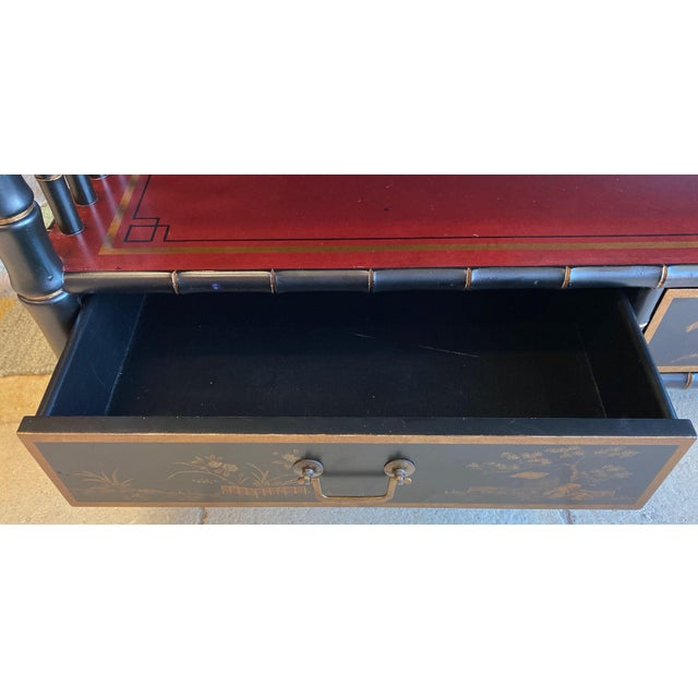 Chinoiserie Mario Buatta Widdicomb Waterfall Bookcase For Sale - Image 9 of 12