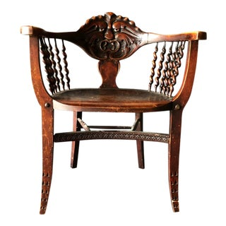 1900s Traditional North Wind Wood Side Chair