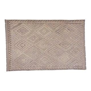 Handwoven Geometric Kilim wool Rug - 6′4″ × 9′10″ For Sale