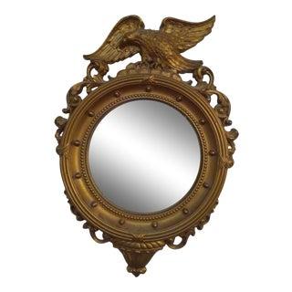 Vintage Syroco Regency Convex Eagle Wall Mirror For Sale