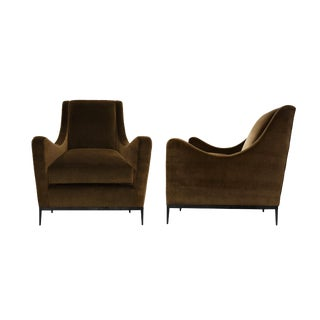1940s Vintage Jean Michael Frank Style Lounge Chairs - A Pair For Sale