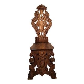 19th C. Carved Baroque Sgabello Italian Chair