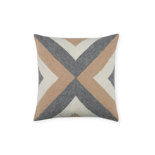 Mid-Century Modern 100% Baby Alpaca Grinda Square Pillow For Sale - Image 3 of 3
