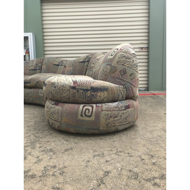 1990s Vintage Basset Curvy Sculptural Serpentine 3 Piece Sofa For Sale - Image 10 of 12