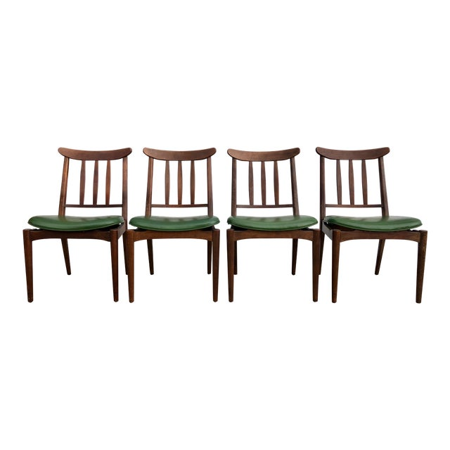 8bed80b5dd37 1960s Vintage Danish Modern Teak Dining Chairs- Set of 4 | Chairish