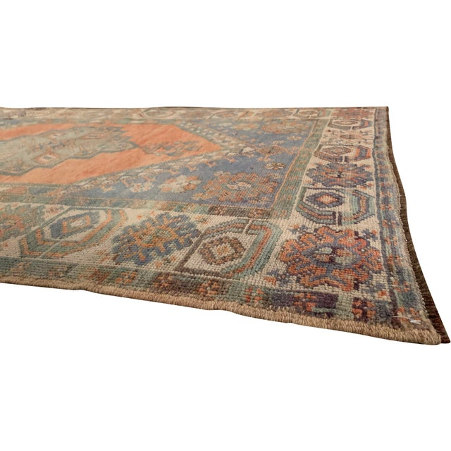 Vintage Turkish Oushak Rug, 3'5 X 5'5 For Sale In New York - Image 6 of 7