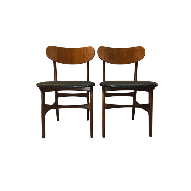 Danish Teak Round Back Dining Chairs - Set of 6 For Sale - Image 5 of 13