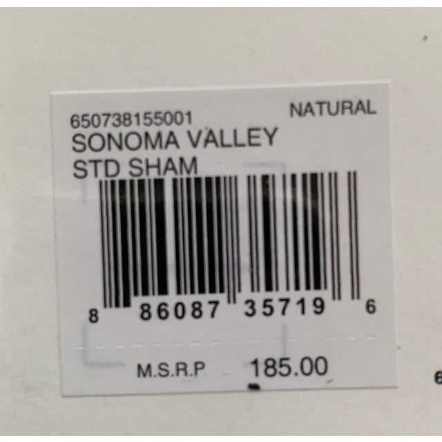 Ralph Lauren Sonoma Valley Natural Standard Pillow Sham For Sale In New York - Image 6 of 7