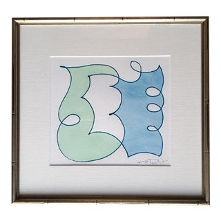 "Kayce Hughes ""Blue & Green Friends 2"" Painting For Sale"