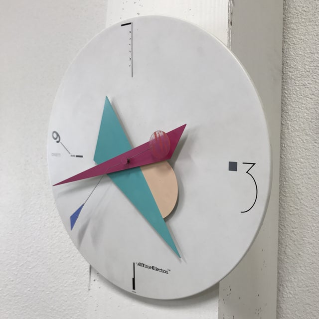 Modern Canetti Modern Wall Clock For Sale - Image 3 of 11