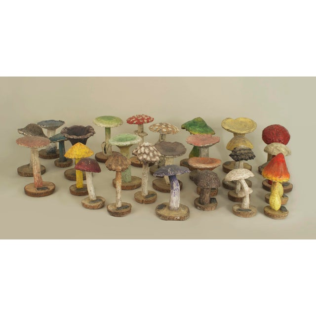 Paint Enlarged Models Of A Variety Of Wild Mushrooms- Set of 19 For Sale - Image 7 of 7