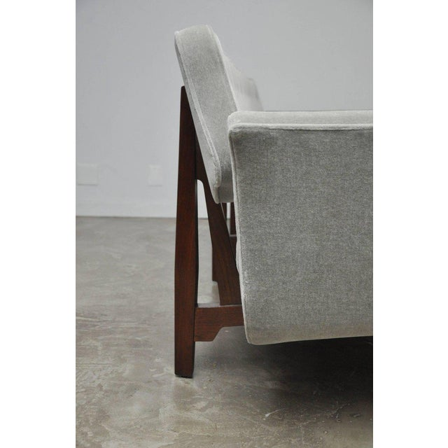 Gray La Gondola Sofa in Gray Mohair by Edward Wormley for Dunbar For Sale - Image 8 of 11
